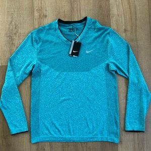Nike Flex Knit V-Neck Golf Shirt Green Size Large
